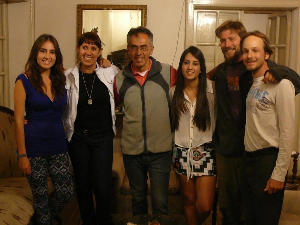 With Ana Carolina, Ana Lucia, Santiago, Micaela, Andi